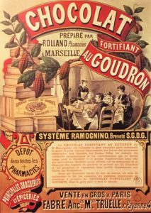 Altes Schokoladen-Werbeplakat