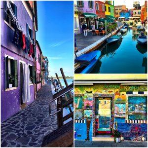 Wundervoll buntes Burano in Venedig