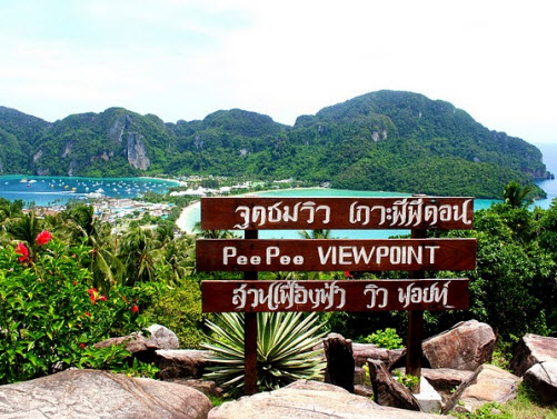 Viewpoint auf Koh Phi Phi in Thailand