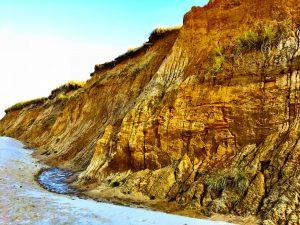 Kliffwand am Roten Kliff auf SYlt