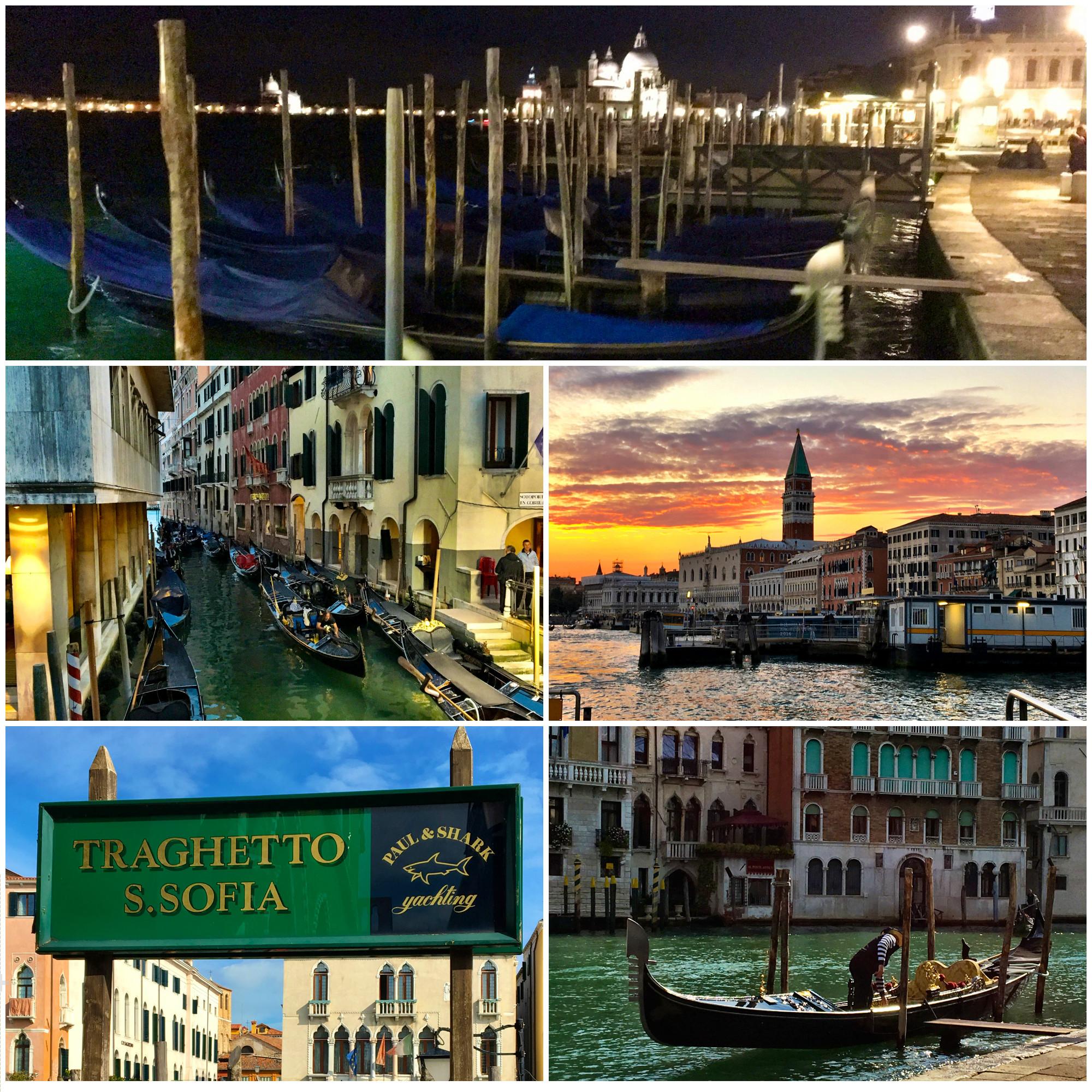 Wasserwege in Venedig für Gondeln, Valporetti und Traghetti